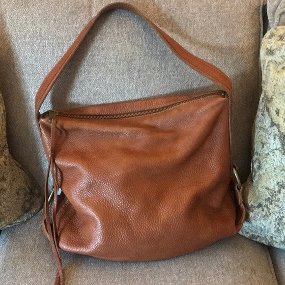 Banana Republic Handbags - Banana Republic Cognac Leather Hobo Bag 95cde0aaf6366